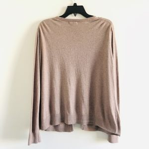 Merona Cotton Tan Brown Cardigan Sweater XL